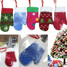 Cute Christmas Tree Decorations Ornaments Fork Bag Puddings Candy Gloves Hanging