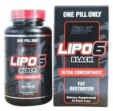 Nutrex LIPO 6 BLACK Ultra Concentrate Fat Burner Weight Loss 60 black-caps