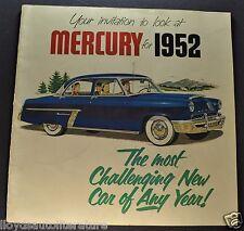 1952 Mercury 24pg Catalog Sales Brochure Monterey, Wagon Nice Original 52