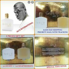 GOLD by Jay Z 2 Piece Gift Set 3.0 OZ EDT Cologne Aftershave NEW in Box for Men
