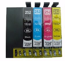 4-Pk/Pack T252XL Ink Cartridge for Epson WorkForce WF3620 WF-3640 7110 7610 7620