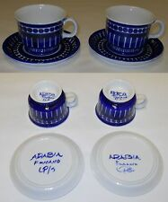 Valencia Coffee Cups With Saucers Hand Painting Ulla Procope Arabia Finland