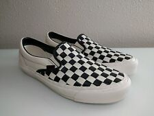 Vans Vault OG Classic Slip-On Checkered Past Woven Black size 10.5