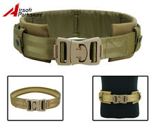 Tactical Military Airsoft Hunting 1000D Nylon Combat Waist Padded Duty Belt Tan