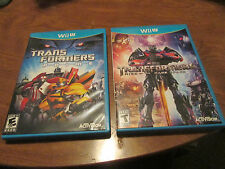 Transformers: Rise of the Dark Spark & Prime Nintendo Wii U LOT 2 GAMES RARE