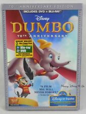 Walt Disney Studios Dumbo 70th Anniversary Edition Blu-Ray and DVD W/Slip Cover