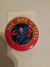 VINTAGE 1982 TM DC COMICS - SUPERMAN THE MAN OF STEEL BUTTON    NEW