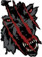 WOLF SCRATCH - DECAL 170mm x 120mm - DECAL