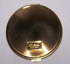 Vintage Richard Hudnut Compact Gold Toned Sun Ray Design Front Signed Unused