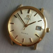 Omega vintage 1960/70s 18k pink gold automatic geneve date.