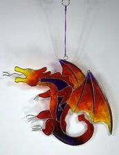 Celtic Fire Dragon LARGE suncatcher garden mobile window ornament FREE SHIPPING!