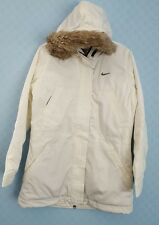 Women's Nike Quilted Hoodie Padded Jacket Brand New Size XLarge White (#4412)