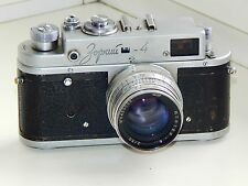 Zorki-4 35mm USSR Rangefinder Film Camera copy Leica w/s lens Jupiter 8 TESTED