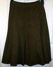 LOVELY BROWN PANELLED SKIRT SIZE 12  # 911