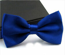Mens Royal Blue Tuxedo Bow Tie Pre Tied Adjustable Business Formal Neckwear 009