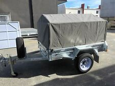 7x4 600mm Heavy Duty Ripstop Canvas Trailer Cover