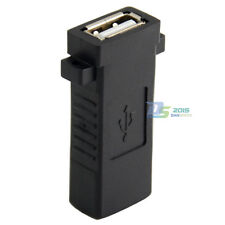 USB 2.0 A Female to Female Panel Mount Insert Adapter for Wall Socket Face Plate
