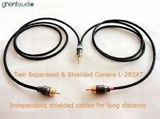 "B02 (0.3m 1ft)---3.5mm Jack 1/8"" TRS to Dual(2) RCA Canare L-2B2AT Audio Cable"