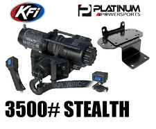 3500 lb Yamaha Rhino 450 660 700 KFI Stealth Winch Kit - Synthetic Rope