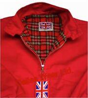 HARRINGTON JACKET SKIN XS S M L XL XXL 3XL 4XL 5XL RED