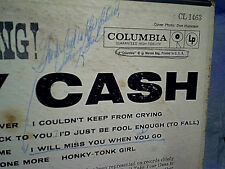 1960 JOHNNY CASH-Now There Was A Song!,columbia label 1463,LP,vintage,old