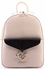Women's Hand Bag Backpack LOVE MOSCHINO New Saff PVC Mix Ivory Black Avorio Nero