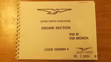 Moto Guzzi V50 III / Monza Engine Section Parts Cat 00407 [3-21-5]