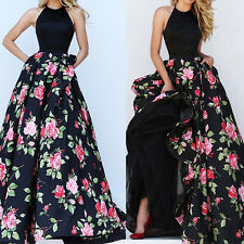 Women Long Prom Dress Cocktail Party Ball Gown Evening Bridesmaid Dress 2017 L