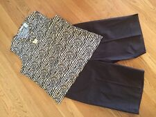 Women's 3 Pc Outfit: Lg Top; Jones NY Sz 14 Shorts; NWOT Jewelry Set. EUC!