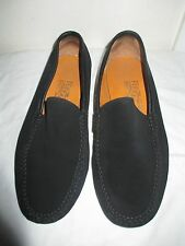 FERRAGAMO MEN'S BLACK SUEDE MOCCASIN LOAFERS US SZ 7 ½ EE MADE IN ITALY