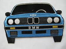 "#3130F 9-1/4"" Blue,Silver,Black B.M.W Car Embroidery Sew On Applique Patch"