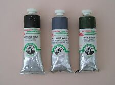 3 x 40ml Tubes of Old Holland Artists Best Quality Oil Paint Colour