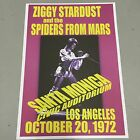 DAVID BOWIE ZIGGY STARDUST - CONCERT POSTER LOS ANGELES 20th OCTOBER 1972 A3SIZE