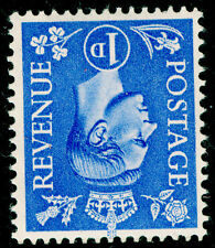 Sg504Wi, 1d light ultramarine, UNMOUNTED MINT. WMK INVERTED.