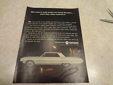 """1965 Chrysler Newport Vintage Magazine Ad """"How come so many people are buying.."""""""