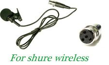 Lapel Lavalier Microphone TA4F 4 PINS XLR for Shure Wireless L1 LX1 SC1 U1 SLX1