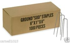 """1000 6"""" Landscape Staples~SOD Staples Garden Stakes Weed Barrier Pins"""
