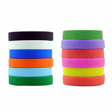 Promotional Dozen Silicone Rubber Bracelet Adult Wristbands Custom Design Bands