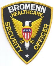 **BROMENN ILLINOIS HEALTHCARE SECURITY OFFICER POLICE PATCH**