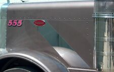 Peterbilt 379 Hood Emblem Trim 16 Gauge Stainless Steel