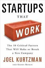 Startups That Work: Research on What Makes or Breaks a New Company - Kurtzman
