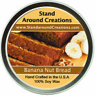 Premium 100% All Natural Soy Wax Candle - 4 oz Tin - Banana Nut Bread