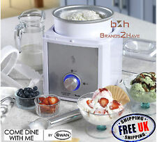 Swan Come Dine With Me 2L Ice Cream Maker Gelato Sorbet Frozen Yoghurt Machine