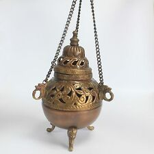 LARGE HANGING BRASS INCENSE BURNER - Timeless Quality Burner - Same Day Despatch