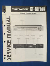 KENWOOD KT-50 TUNER SERVICE MANUAL ORIGINAL FACTORY ISSUE GOOD CONDITION