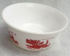 Scotty Scottie Dog Running Red Graphic White Milk Glass Round Bowl