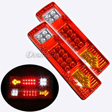 12V 2X LED Truck Trailer Caravan Van Rear Tail Stop Reverse Indicator Light Lamp