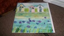 BEAUTIFUL BEACH HUTS - CLAIRE HENLEY MILKWOOD GREETING CARD BLANK ALL OCCASIONS