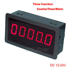 "0.56"" Red LED Digital Counter Meter Timer Timing DC12-24V Car Motor Test"