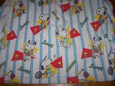 VINTAGE SPIRIT SNOOPY FLANNEL TWIN FITTED SHEET